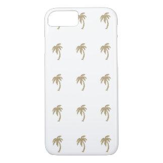 Tropischer GoldGlitter-Palmen iPhone 7 Fall iPhone 8/7 Hülle