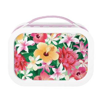 Tropischer Hibiskus-Blumenmuster Brotdose