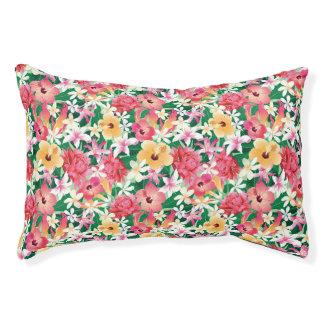 Tropischer Hibiskus-Blumenmuster Haustierbett