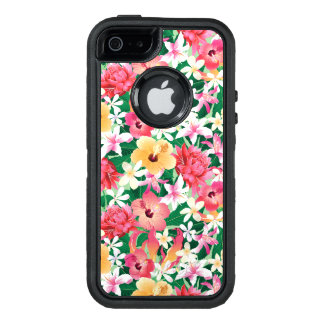 Tropischer Hibiskus-Blumenmuster OtterBox iPhone 5/5s/SE Hülle