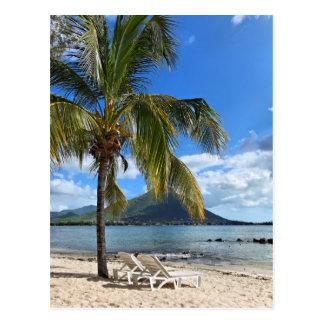 Tropischer Insel-Lebensstil Postkarte