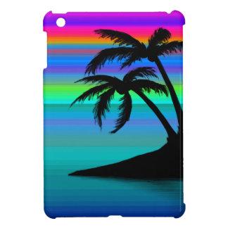 Tropischer Insel-Sonnenuntergang iPad Mini Hülle
