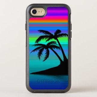 Tropischer Insel-Sonnenuntergang OtterBox Symmetry iPhone 8/7 Hülle