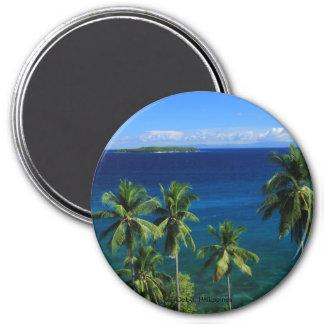Tropischer Insel-Strand-Magnet Runder Magnet 7,6 Cm
