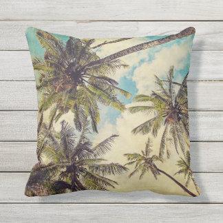 Tropischer Kauai-Palme-Druck-Kissen im Freien Kissen