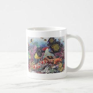 Tropischer korallenroter Fisch-Tanz Kaffeetasse