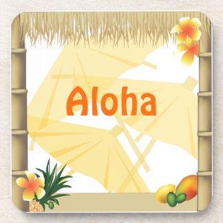Tropischer Luau Party Tiki Untersetzer