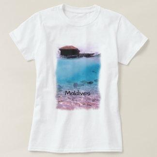 Tropischer Malediven-Spaß-schnorchelnde Andenken T-Shirt