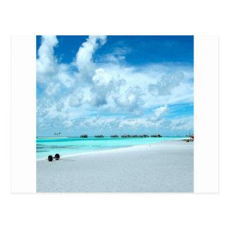 Tropischer Malediven-Strand-Hafen Postkarte