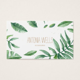 Tropischer Minimal business card Visitenkarte