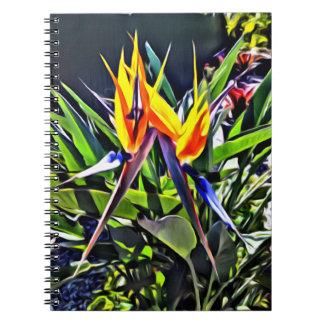 Tropischer Notizbuch-Paradiesvogel Spiral Notizblock