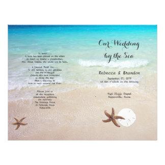 Tropischer Ozean-Strand gefaltetes Wedding 21,6 X 27,9 Cm Flyer