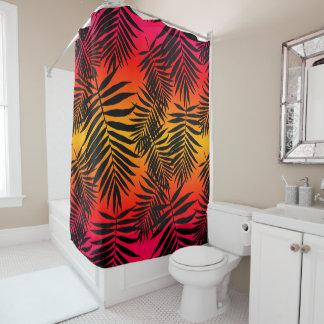 Tropischer Palme-Blatt-Schatten auf Duschvorhang
