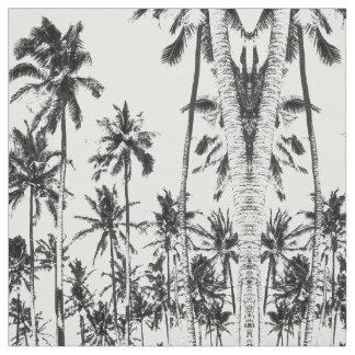 Tropischer Palmeschwarzweiss-sommer modern Stoff