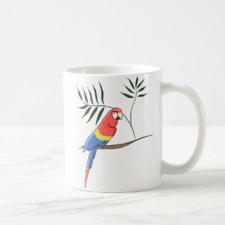 Tropischer Papagei Kaffeetasse