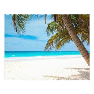 Tropischer Paradies-Strand 21,6 X 27,9 Cm Flyer