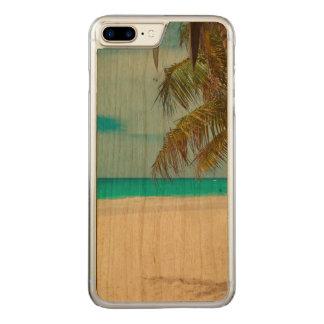 Tropischer Paradies-Strand Carved iPhone 8 Plus/7 Plus Hülle