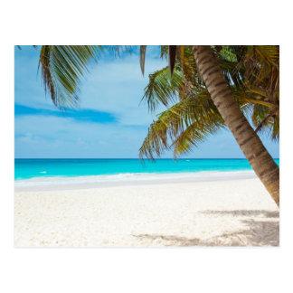 Tropischer Paradies-Strand Postkarte