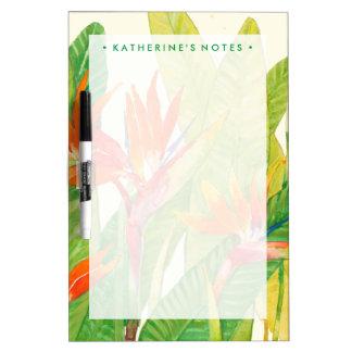 Tropischer Paradiesvogel der Blumen-| Memoboard