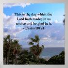 TROPISCHER PSALM-118:24 OZEAN UND PALMEN POSTER