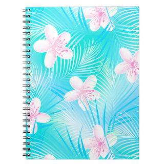 Tropischer rosa Frangipani Notizblock