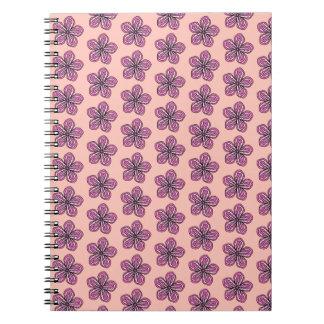 Tropischer rosa Hibiskus Spiral Notizblock