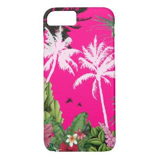 Tropischer rosa Telefon-Kasten iPhone 8/7 Hülle