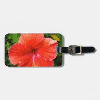 Tropischer roter Hibiskus Bonita Springs Florida Kofferanhänger