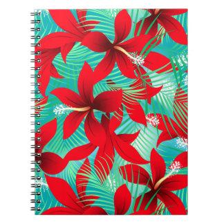 Tropischer roter Hibiskus Notizblock