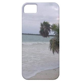 Tropischer Sandy-Strand, Ozean-Wellen und Palmen iPhone 5 Etui