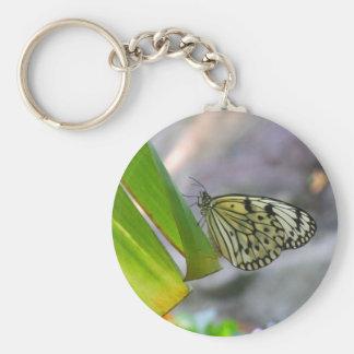 tropischer Schmetterling Standard Runder Schlüsselanhänger