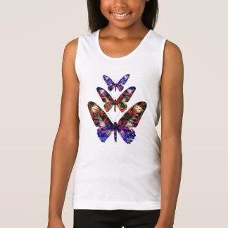 Tropischer Schmetterlingsentwurf T - Shirt