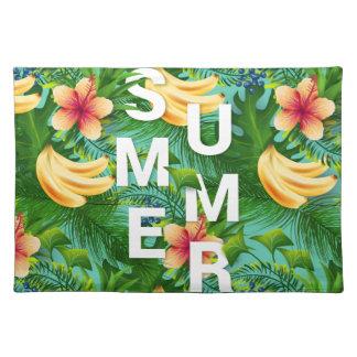 Tropischer Sommertext auf Tischset
