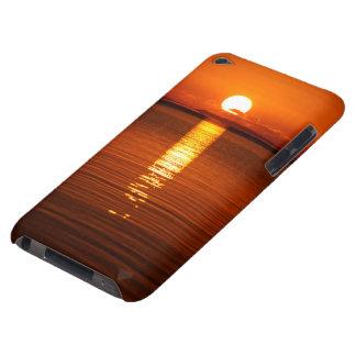 Tropischer Sonnenaufgang in der Orange iPod Touch Case