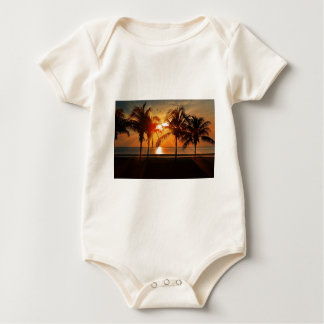 Tropischer Sonnenuntergang Baby Strampler