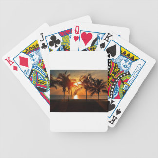 Tropischer Sonnenuntergang Bicycle Spielkarten