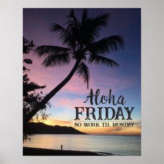 Tropischer Sonnenuntergang hawaiisches Poster