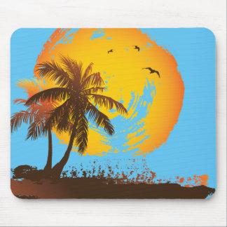 Tropischer Sonnenuntergang Mauspad