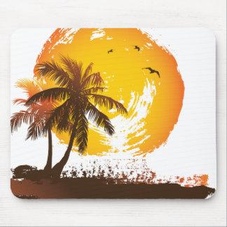 Tropischer Sonnenuntergang Mauspads