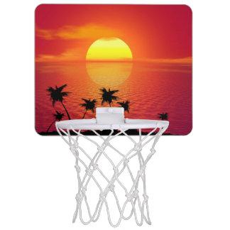 Tropischer Sonnenuntergang Mini Basketball Ring