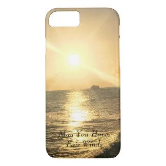 Tropischer Sonnenuntergang mit schönen Farben iPhone 8/7 Hülle