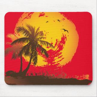 Tropischer Sonnenuntergang Mousepad