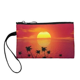Tropischer Sonnenuntergang Münzbörse
