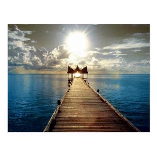 Tropischer Sonnenuntergang Postkarte