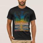 Tropischer Sonnenuntergang T-Shirt