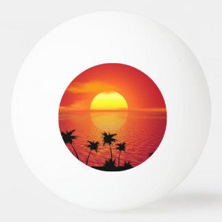 Tropischer Sonnenuntergang Tischtennis Ball