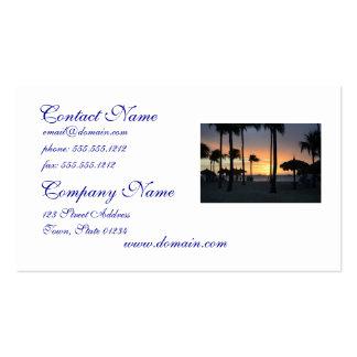 Tropischer Sonnenuntergang Visitenkarte