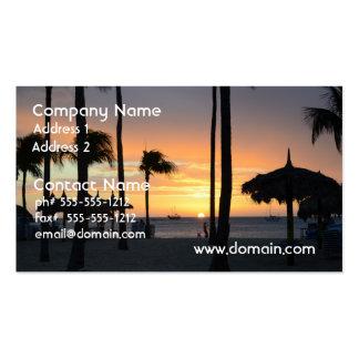 Tropischer Sonnenuntergang Visitenkartenvorlage