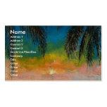 Tropischer Sonnenuntergang Visitenkarten Vorlage