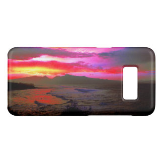 Tropischer Sonnenuntergang-windiges Insel-Meer Case-Mate Samsung Galaxy S8 Hülle